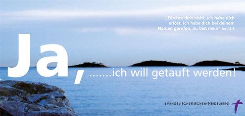 Tauf-Flyer der Evangelischen Kirche Heidelberg zum Download