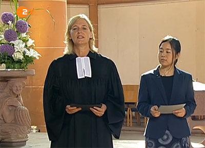 Quelle: ZDF-Mediathek: Pfarrerin Sigrid Zweygart-Pérez und Masako Tsuno
