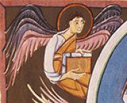 Quelle: Bamberger Apokalypse Folio 10 verso, Bamberg, Staatsbibliothek, MS A. II. 42. via Wikimedia Commons