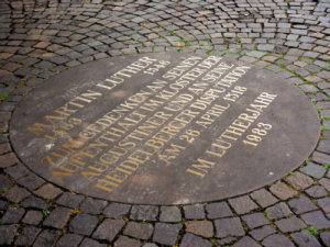 Lutherplakette; Quelle: ekihd